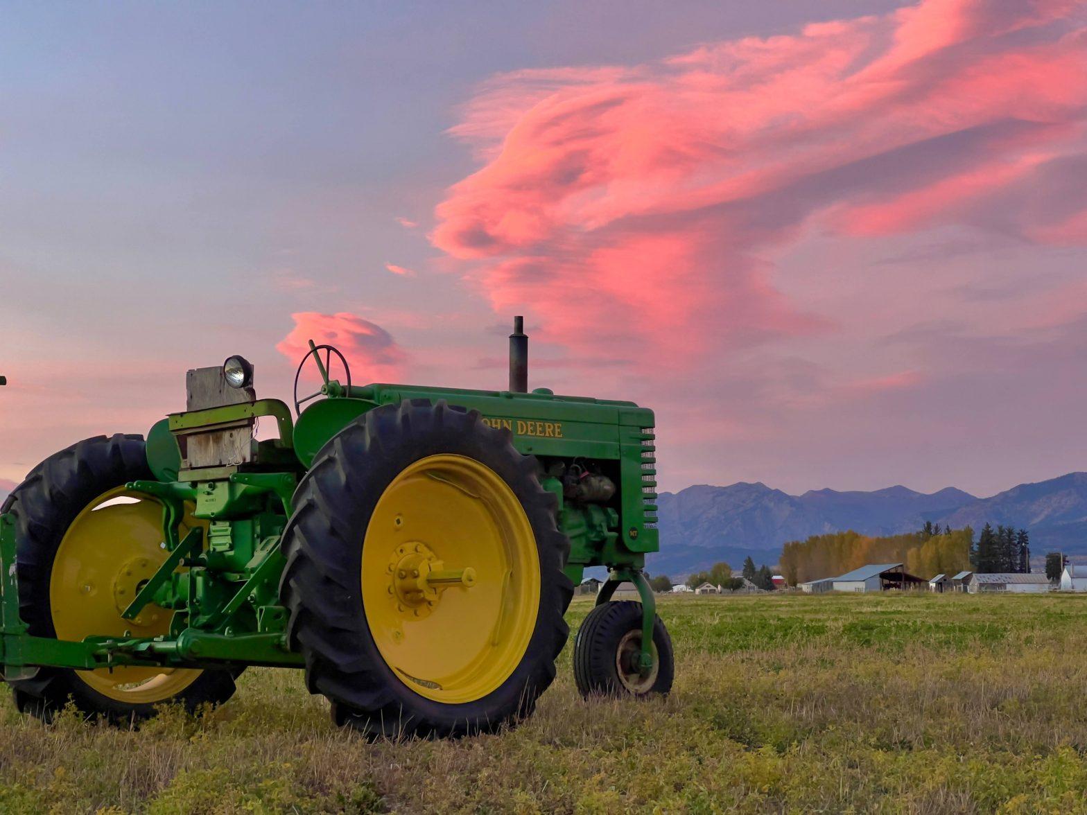 John Deere MT with Sunset